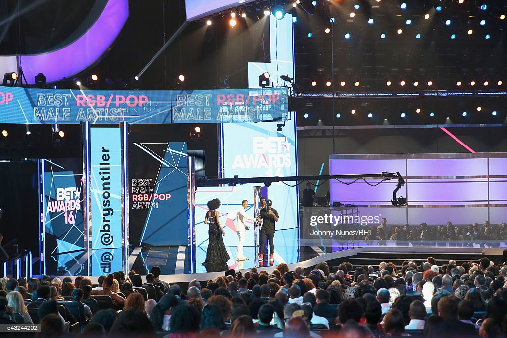 A general view of the stage during the 2016 BET Awards at the Microsoft Theater on June 26, 2016 in Los Angeles, California.
