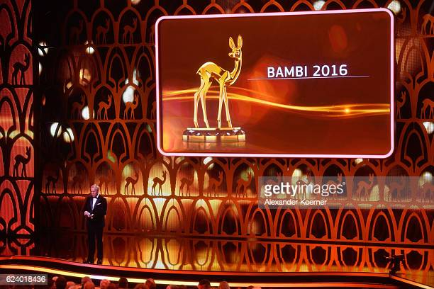 A general view of the stage during the Bambi Awards 2016 show at Stage Theater on November 17 2016 in Berlin Germany