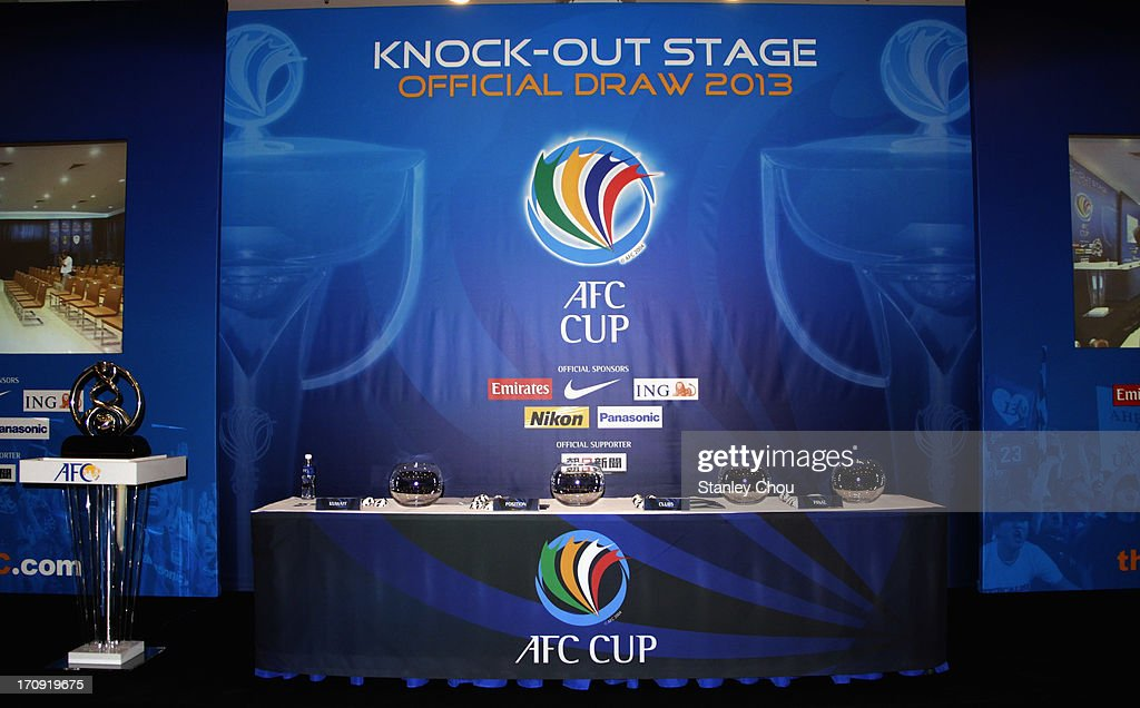 General view of the stage during the Quarter Finals Knock-out Stage Draw of the 2013 AFC Cup at the AFC House on June 20, 2013 in Kuala Lumpur, Malaysia.