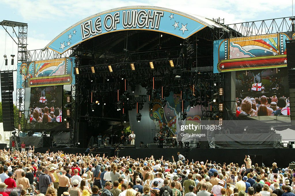 A general view of the stage on day two of 'The Nokia Isle of Wight Festival 2004' at Seaclose Park on June 12, 2004 in Newport, Isle of Wight, UK. The third annual rock festival takes place during the Isle of Wight Festival which runs from June 4-19.