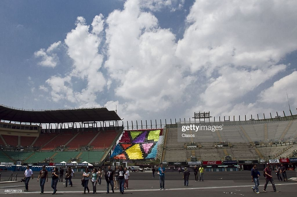 A general view of the stages for the Vive Latino Music Festival at Foro Sol on March 26, 2014 in Mexico City, Mexico.