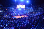 A general view of the Staples Center during a game between the Oklahoma City Thunder and Los Angeles Clippers on October 30 2014 at Staples Center in...