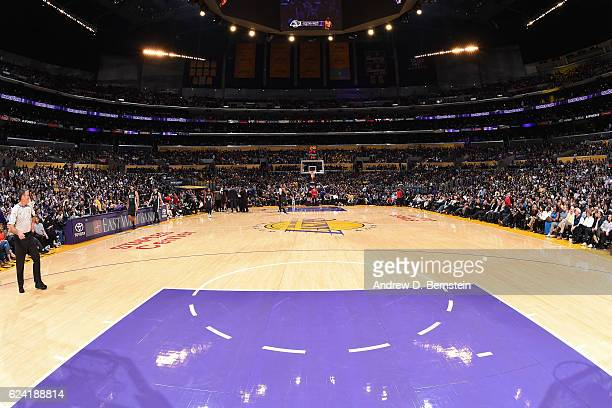 A general view of the Staples Center during the Brooklyn Nets game against the Los Angeles Lakers on November 15 2016 in Los Angeles California NOTE...