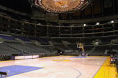 General View of the Staples Center home of the Los Angeles Lakers before a game at Staples Center in Los Angeles California NOTE TO USER User...