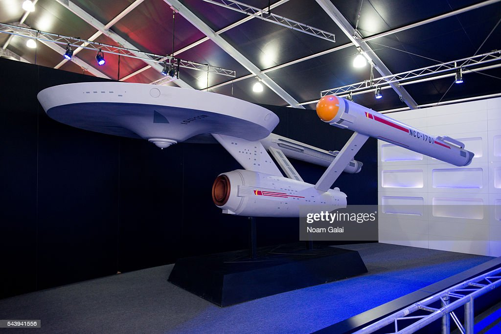 General view of the Starship Enterprise inside the Star Trek: The Star Fleet Academy Experience at Intrepid Sea-Air-Space Museum on June 30, 2016 in New York City.