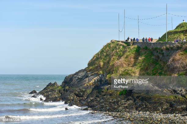 A general view of the starting point of BrayGreystones cliff walk in Bray On Sunday March 26 in Bray Ireland