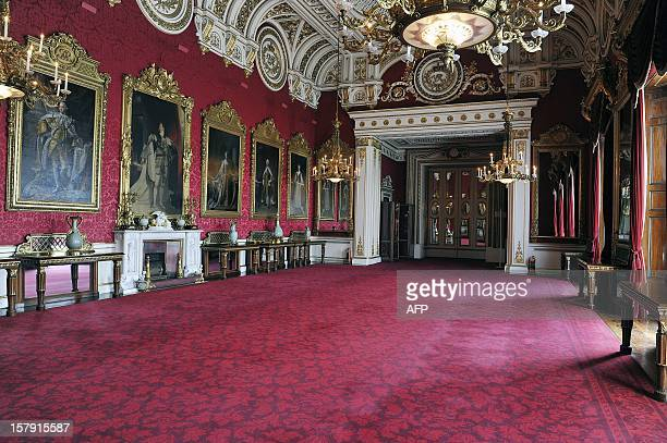 WEBSITES A general view of the State Dining Room which will be used during the wedding reception of Prince William and Kate Middleton at Buckingham...