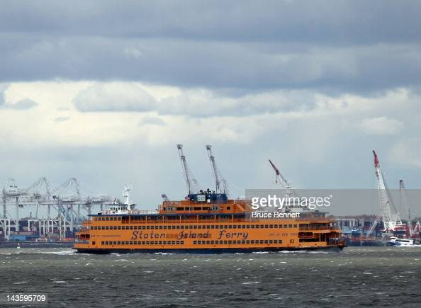 A general view of the Staten Island Ferry as photographed on April 27 2012 from the Red Hook section of Broooklyn New York