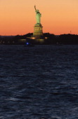 A general view of the Statue of Liberty on Liberty Island in Jersey City NJ on July 4 2014 as seen from Red Hook Brooklyn New York City