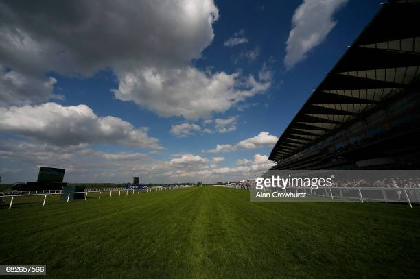 A general view of the straight course at Ascot Racecourse on May 13 2017 in Ascot England