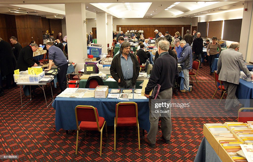 A general view of the Strand Stamp Show in the Royal National Hotel on January 7, 2008 in London, England. The monthly Strand Stamp Show held in London attracts philatelist dealers and collectors from around the country.