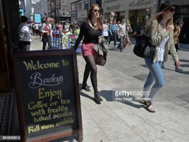 A general view of the street in front of Bewley's Cafe on busy Grafton Street in Dublin Ireland as the cafe has lost its longrunning fight to stop...