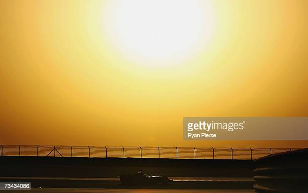 A general view of the sunset during Formula One testing at the Bahrain International Circuit on February 27 2007 in Sakhir Bahrain