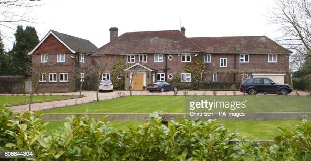 A general view of the Surrey home former Sky Sports presenter Richard Keys shares with his wife Julia