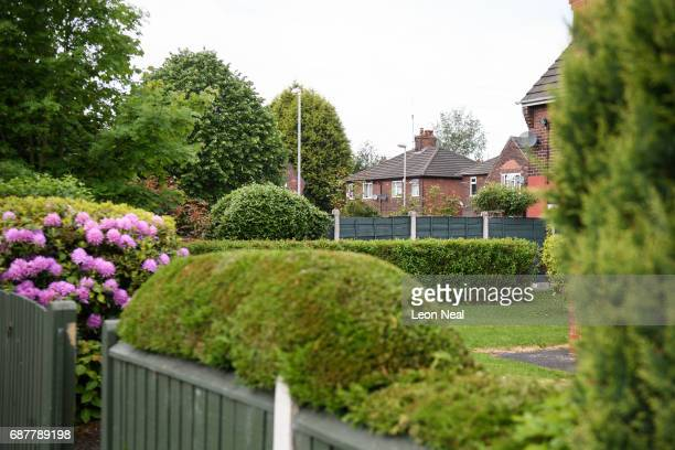 A general view of the surrounding neighbourhood as forensic teams search the former home of terrorist Salman Abedi on May 24 2017 in Manchester...