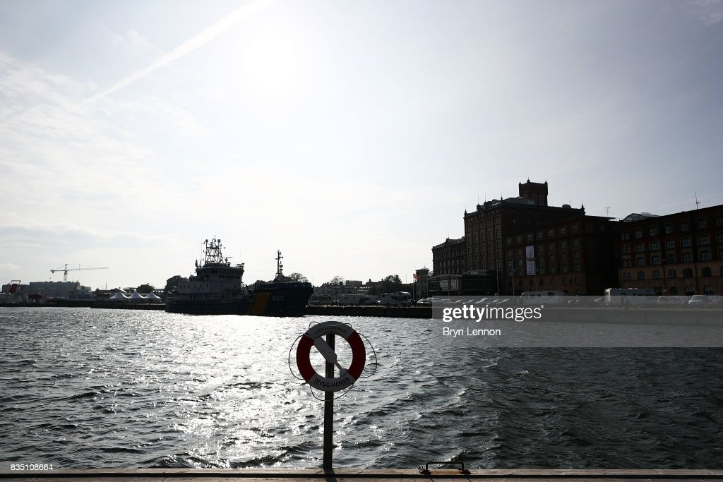 A general view of the swim course ahead of IRONMAN Kalmar on August 18, 2017 in Kalmar, Sweden.