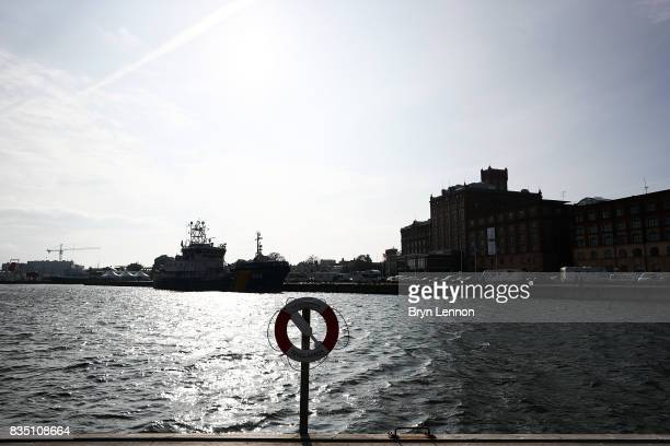 A general view of the swim course ahead of IRONMAN Kalmar on August 18 2017 in Kalmar Sweden