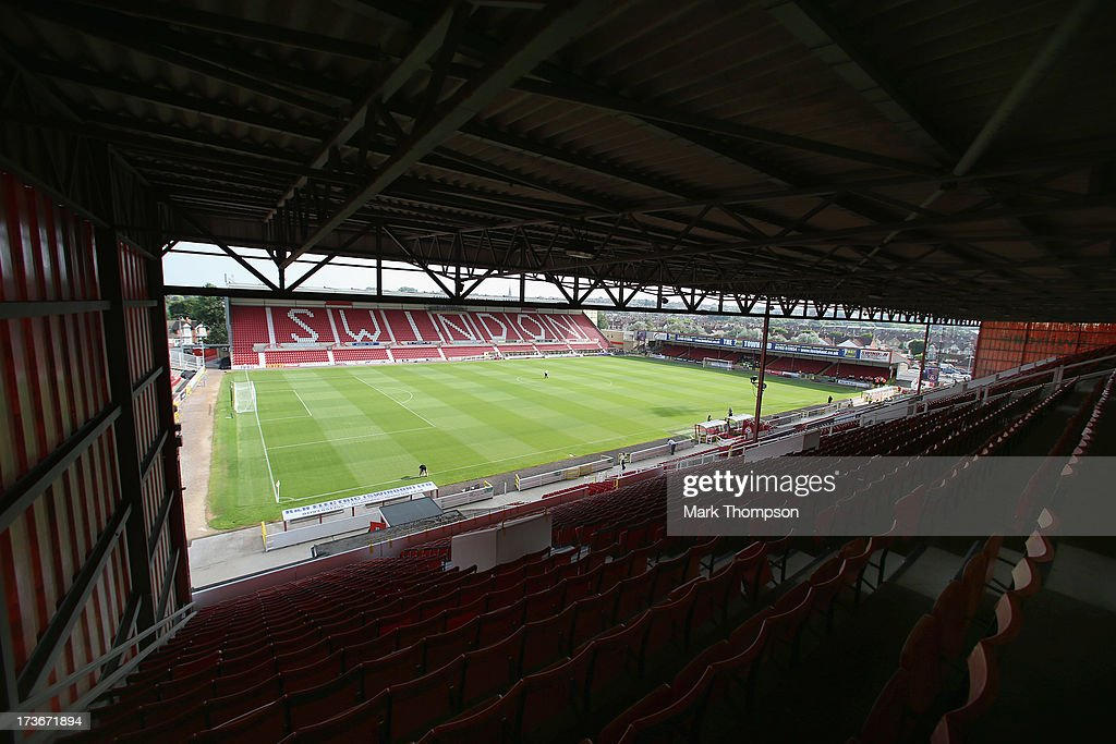 A general view of the Swindon Towns stadium during the pre season friendly between Tottenham Hotspur and Swindon Town at the County Ground on July 16...