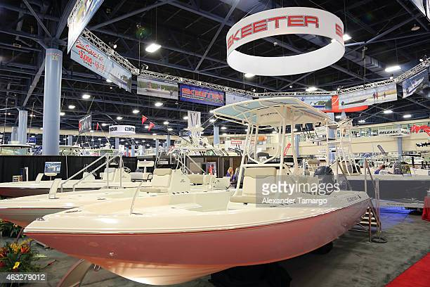 A general view of the SX 2250 at the Skeeter Booth during Miami International Boat Show at the Miami Beach Convention Center on February 12 2015 in...
