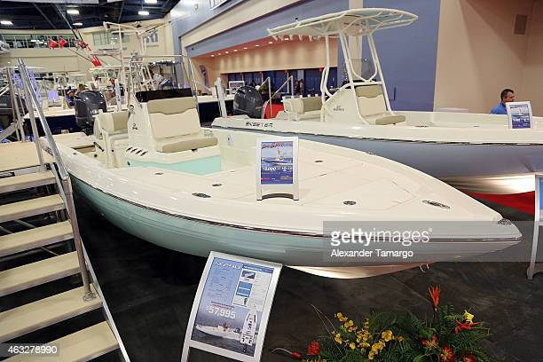 A general view of the SX 240 at the Skeeter Booth during Miami International Boat Show at the Miami Beach Convention Center on February 12 2015 in...