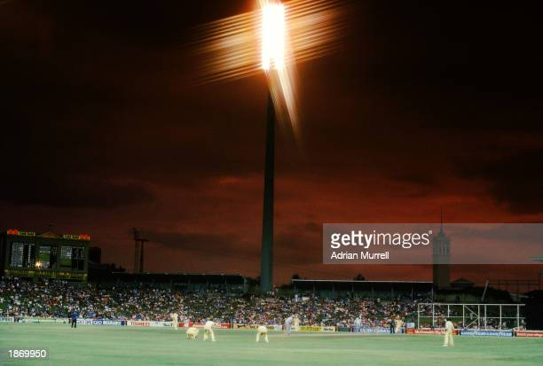 General view of the Sydney Cricket Ground during the World Series Cricket Supertest Grand Final match between WSC Australia and WSC World XI held on...