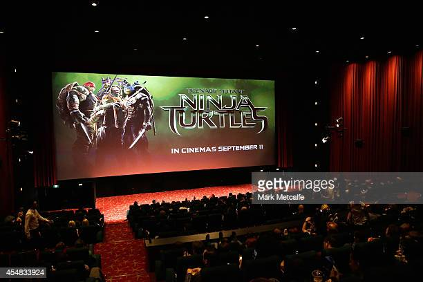 A general view of the Sydney Special Event Screening of 'Teenage Mutant Ninja Turtles' at The Entertainment Quarter on September 7 2014 in Sydney...