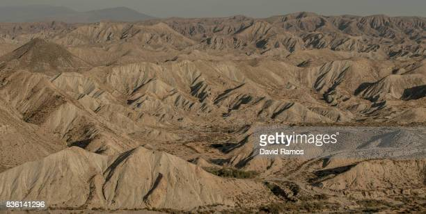 A general view of the Taberna's Desert on July 29 2017 in Tabernas Spain Spain's Southeastern region of Almeria is the driest region of Europe which...