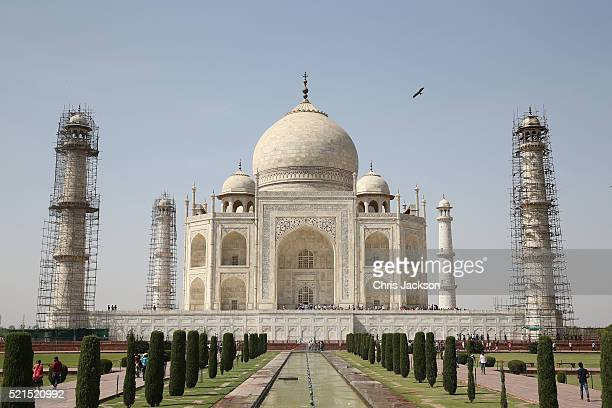 A general view of the Taj Mahal before the visit of Prince William Duke of Cambridge and Catherine Duchess of Cambridge on April 16 2016 in Agra...