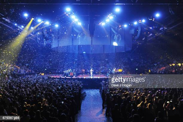 General view of the Take That performance on the opening night of Wonderland Live 2017 at Genting Arena on May 5 2017 in Birmingham United Kingdom