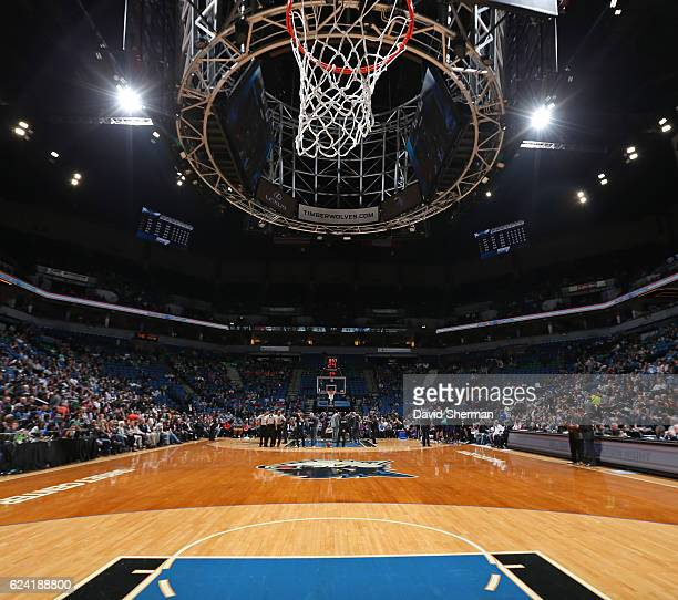 A general view of the Target Center before the Charlotte Hornets game against the Minnesota Timberwolves on November 15 2016 in Minneapolis Minnesota...