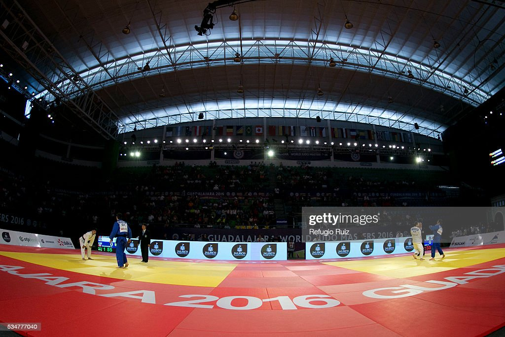 A general view of the tatami during the World Judo Masters Guadalajara 2016 at Adolfo Lopez Mateos Sports Centre on May 27, 2016 in Gudalajara, Mexico.