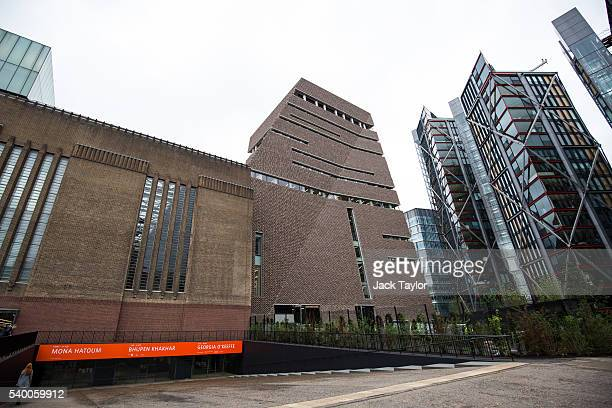 A general view of the Tate Modern's new Switch House on June 14 2016 in London England The Tate Modern art gallery unveils its new Switch House...
