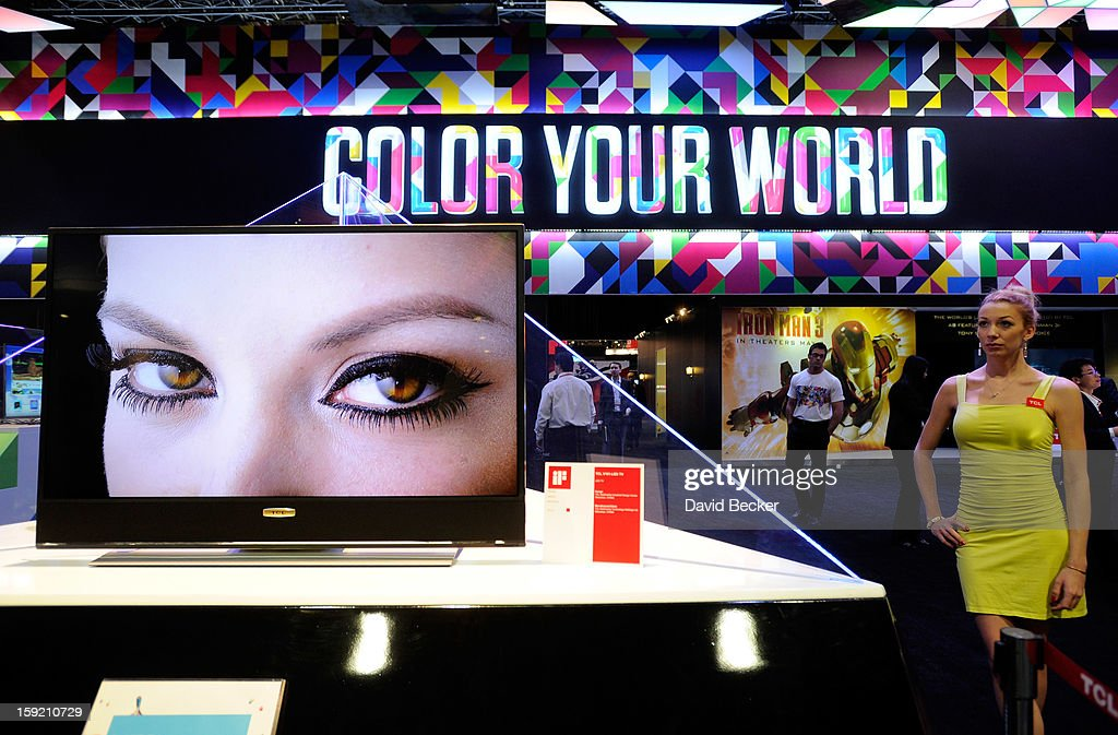 A general view of the TCL booth at the 2013 International CES at the Las Vegas Convention Center on January 9, 2013 in Las Vegas, Nevada. CES, the world's largest annual consumer technology trade show, runs through January 11 and is expected to feature 3,100 exhibitors showing off their latest products and services to about 150,000 attendees.