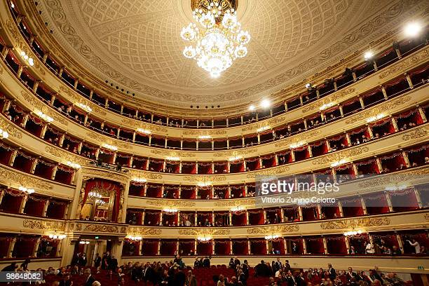 A general view of the Teatro Alla Scala during the Italy's Liberation Day on April 24 2010 in Milan Italy The day is taken as symbolic of the...