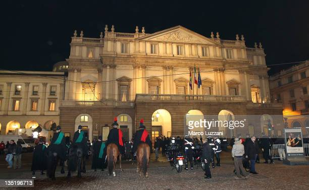 A general view of the Teatro Alla Scala during the Teatro Alla Scala 2011 / 2012 Opening Season on December 7 2011 in Milan Italy