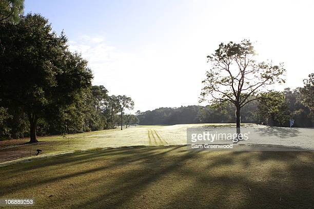 A general view of the tee box is seen on the 8th hole of the Magnolia course during the Childrens Miracle Network Classic on November 11 2010 in Lake...