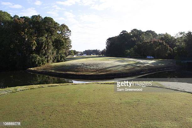 A general view of the tee box is seen on the9th hole of the Magnolia course during the Childrens Miracle Network Classic on November 11 2010 in Lake...