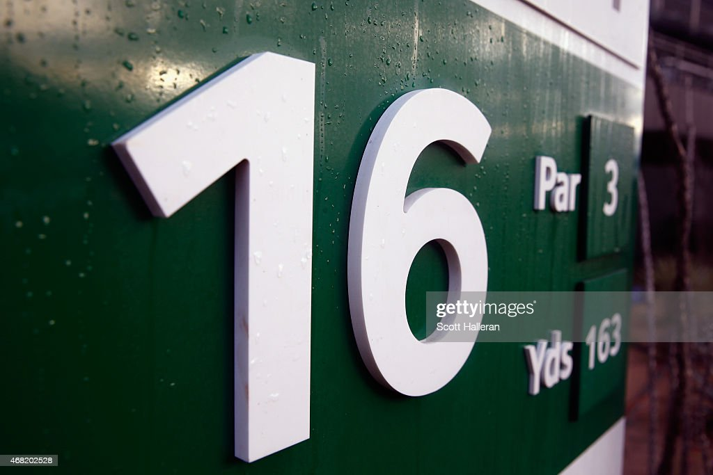 A general view of the tee box on the par-three 16th hole during the third round of the Waste Management Phoenix Open at TPC Scottsdale on January 31, 2015 in Scottsdale, Arizona.