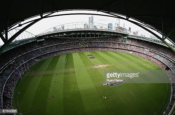 A general view of the Telstra Dome during the round three AFL match between the Essendon Bombers and the Western Bulldogs at the Telstra Dome April...