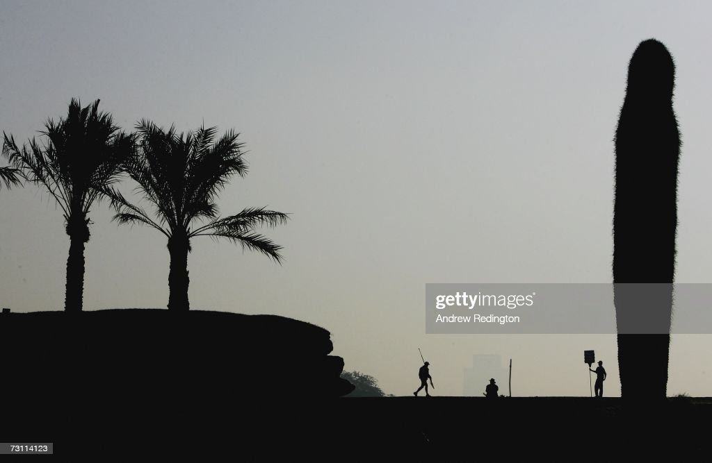 A general view of the tenth green during the second round of The Commercial Bank Qatar Masters at Doha Golf Club on January 26 2007 in Doha Qatar