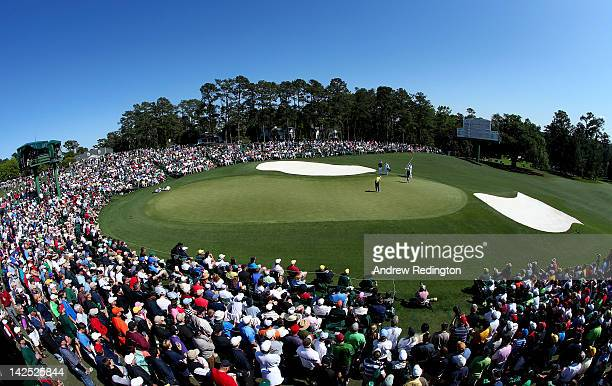 A general view of the tenth hole during the second round of the 2012 Masters Tournament at Augusta National Golf Club on April 6 2012 in Augusta...