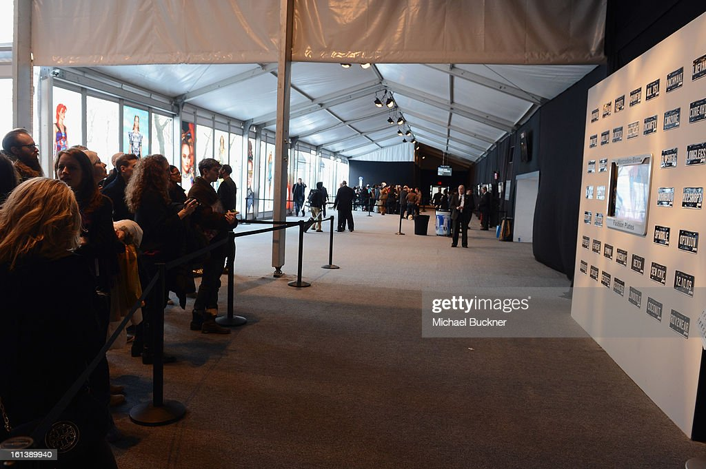 A general view of the tents at Lincoln Center on February 10, 2013 in New York City.