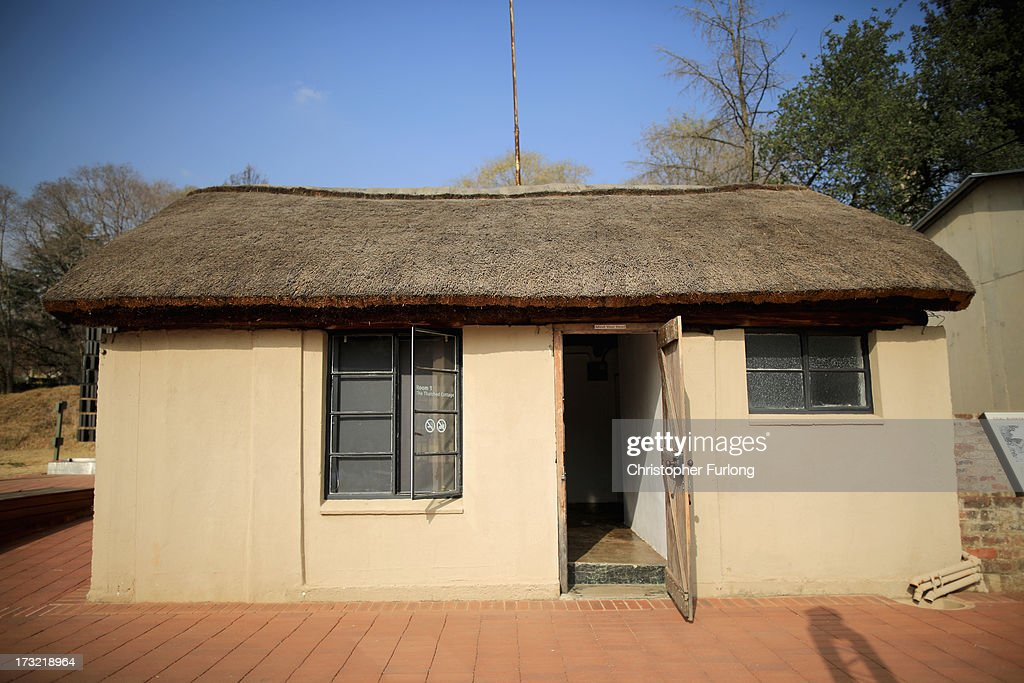 A general view of the thatched cottage at Lilisleaf Farm where ANC freedom fighters held their Operation Mayibuye meeting 50 years ago. July 10, 2013 in Rivonia, South Africa. Tomorrow marks the 50th anniversary since the hideout was raided by police on 11th July 1963. The farm was the secret nerve centre for the ANC underground and the police interrupted a meeting of Operation Mayibuye, a plan to overthrow the Apartheid government. The raid by police led to the arrest of Nelson Mandela, Walter Sisulu, Ahmed Kathrada and Govan Mbeki, who were later convicted through the infamous Rivonia Trial and most were sentenced to life imprisonment on Robben Island.