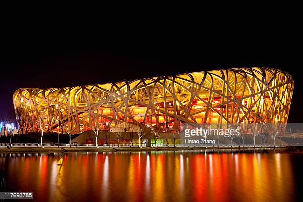 A general view of the The Beijing National Stadium also known as the bird's nest on March 20 2010 in Beijing China