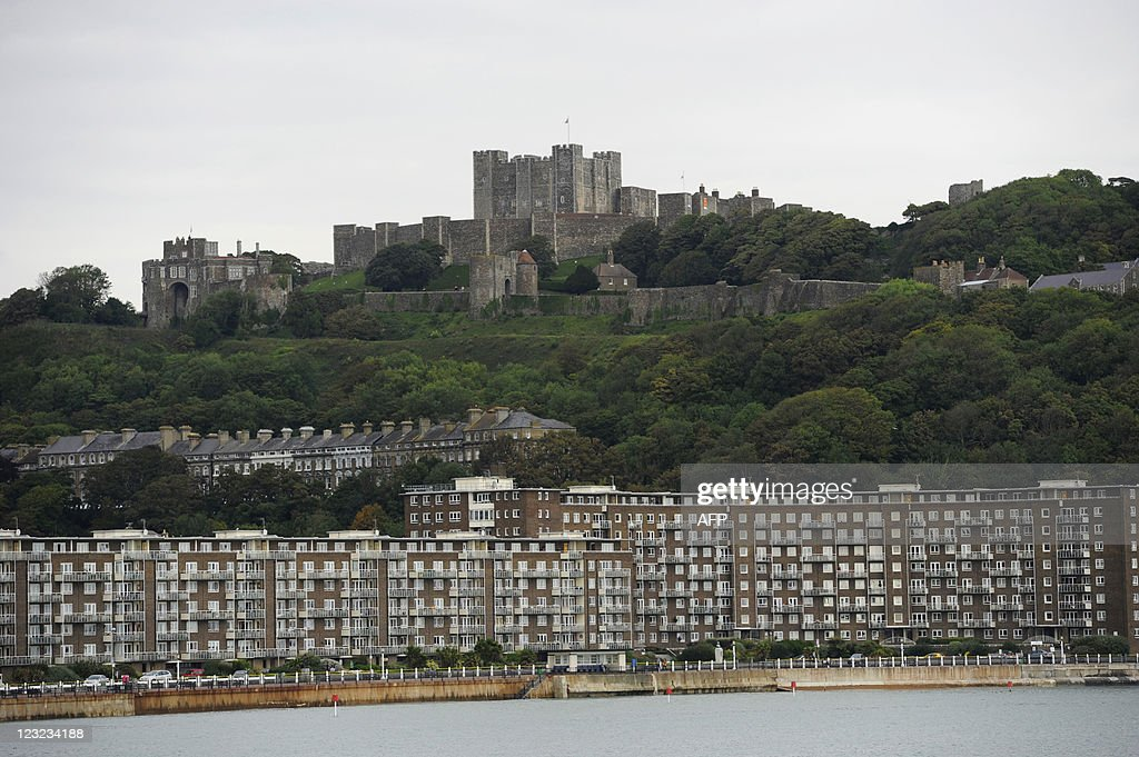 A general view of the the Dover Castle is pictured in Dover Kent south east England on August 31 2011 Dover is a major ferry port in the county of...