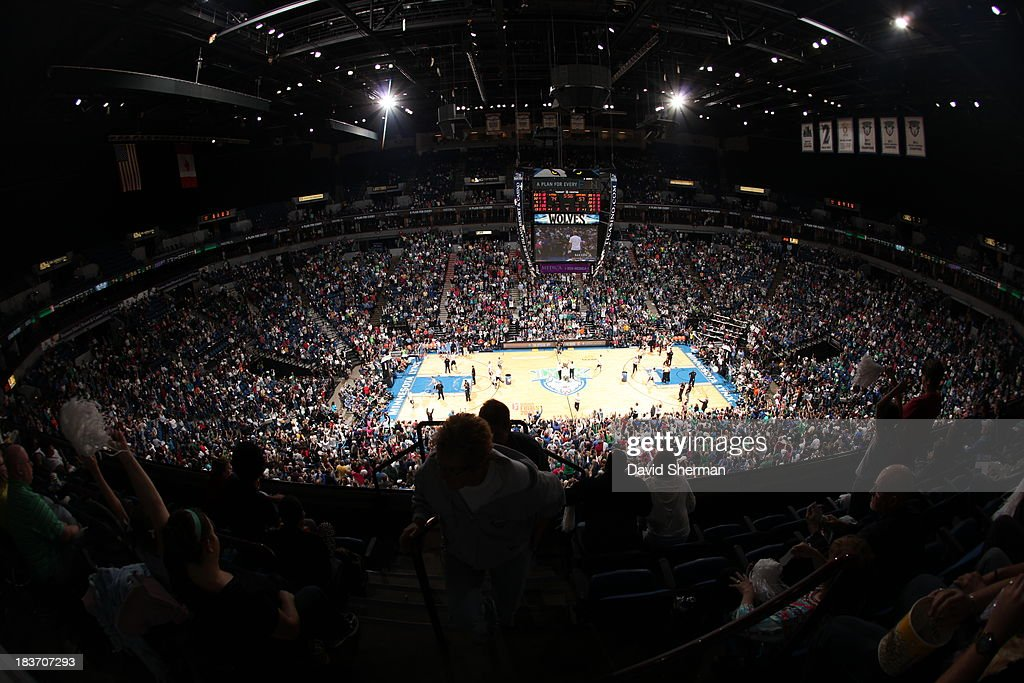 A general view of the the Target Center during Game 2 of the 2013 WNBA Finals when the Atlanta Dream played against the Minnesota Lynx on October 8, 2013 at Target Center in Minneapolis, Minnesota.
