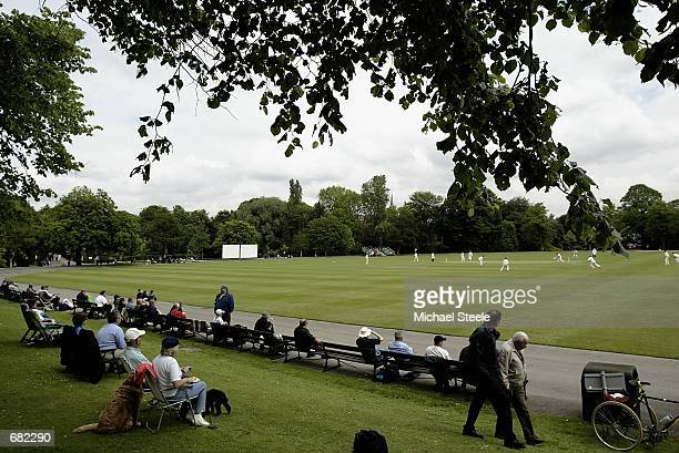 General view of the third days play of the MCC v Sri Lanka Tour match played at Queen's Park Chesterfield