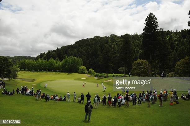 General view of the third green during the final round of the Yonex Ladies Golf Tournament 2016 at the Yonex Country Club on June 4 2017 in Nagaoka...