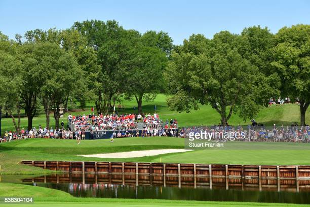 A general view of the third hole during the final day singles matches of The Solheim Cup at Des Moines Golf and Country Club on August 20 2017 in...