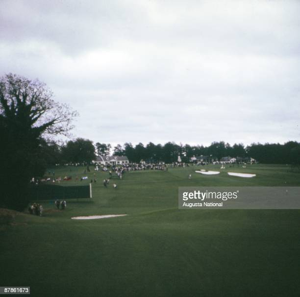 A general view of the third tee during the Masters Tournament at Augusta National Golf Club in April 1964 in Augusta Georgia